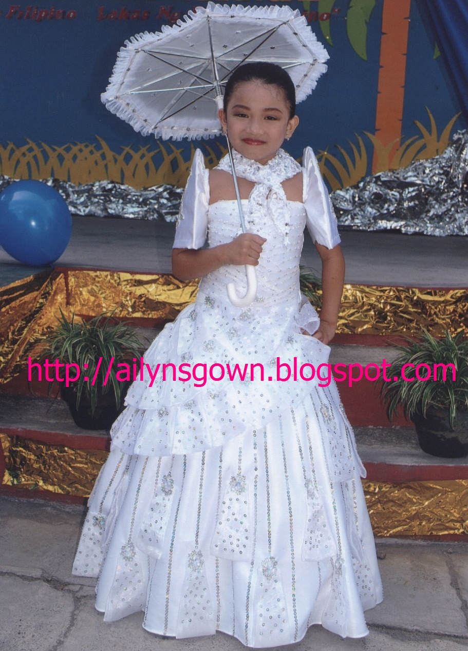 Filipiniana Dress for Girls | Gowns Ideas