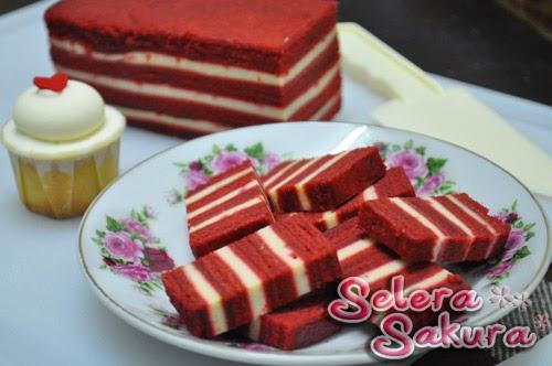 Kek Lapis Red Velvet...Menawan dan Mempesonakan