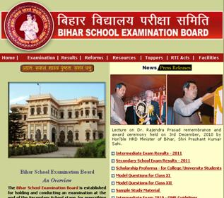 bihar board result website