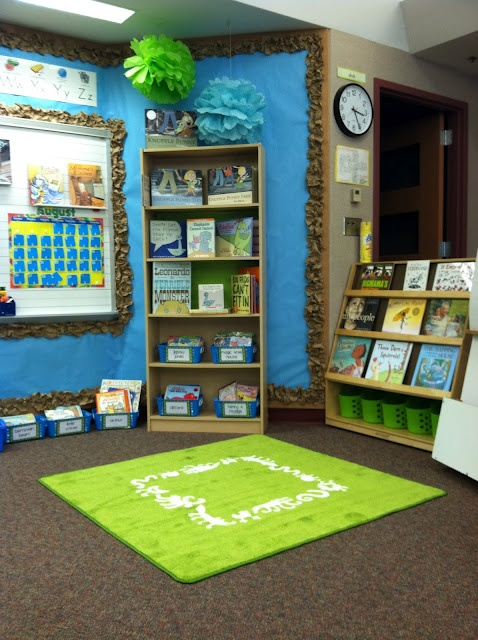 Green Classroom Decor ~ Ideas para decorar la biblioteca zona preescolar