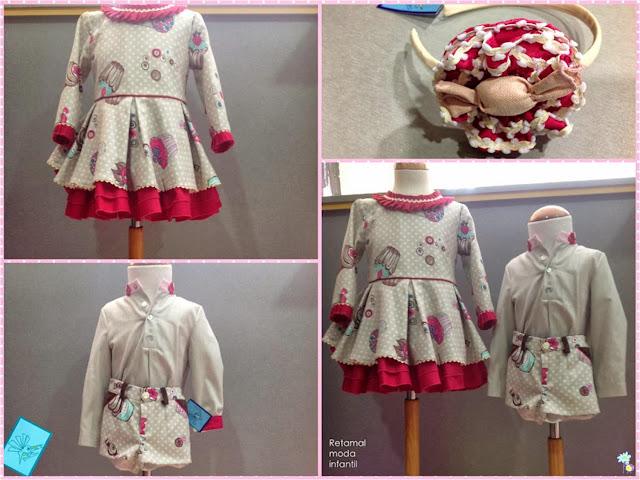 Vestido, conjunto y diadema el Colibrí Azul en Blog Retamal moda infantil y bebé. Tienda de ropa para niños y adolescentes