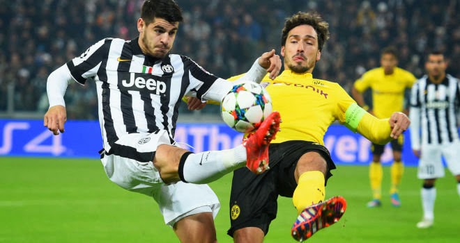 Juventus beat Dortmund 2-1 in Champions League last-16 first leg