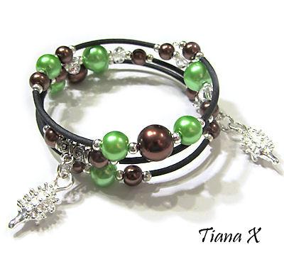 Tiana X - Siilikoru, rannekoru, memory wire, helmikorut