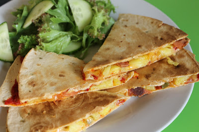 Vegetarian 'Hawaiian' Quesadillas