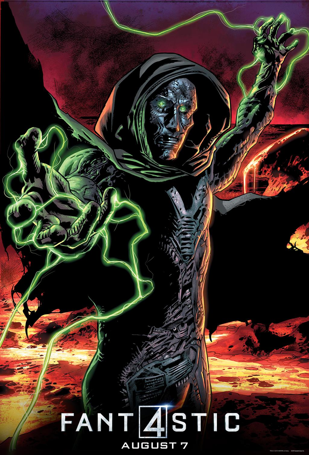 doom arrives in new fantastic four clip and poster the
