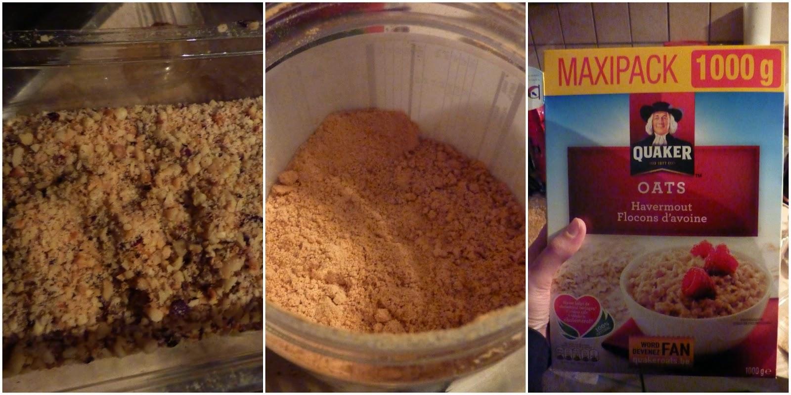 mélange biscuit avoine noisettes
