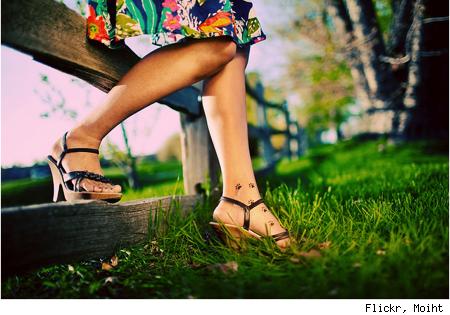 Paw Feet Tattoos for Girls