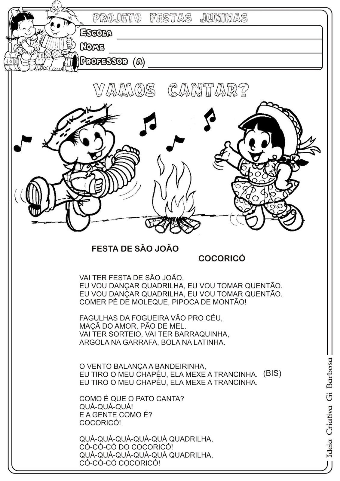 Atividade com Música Festa de São João