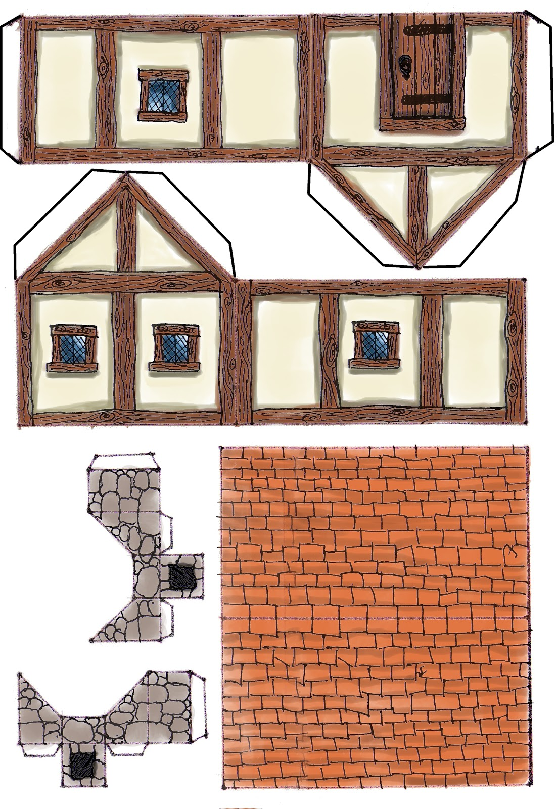 Adorable image throughout printable buildings