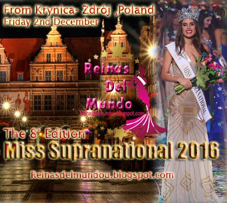 Miss Supranational 2016, 02 de diciembre desde Krynica- Zdrój,Poland