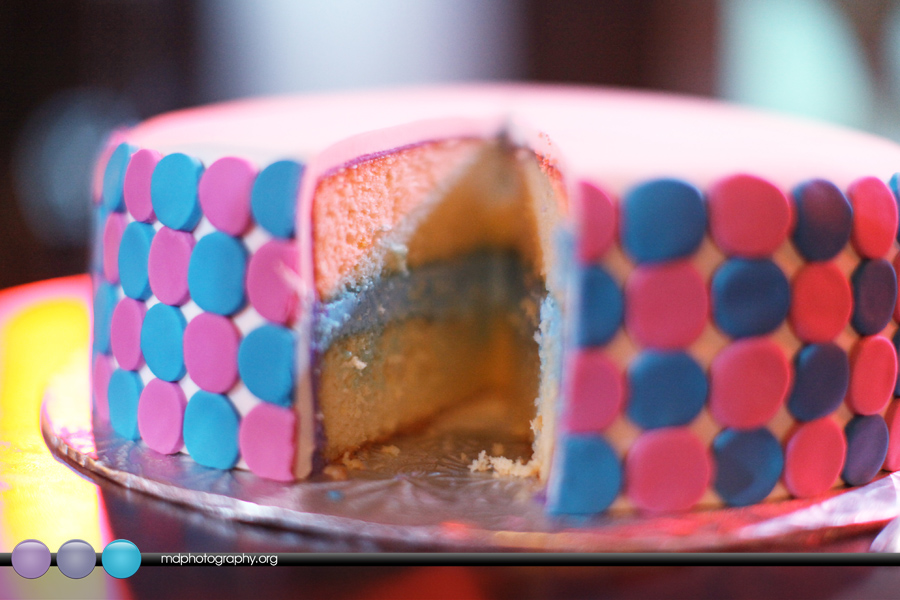 party and you are ready for the big reveal, either cut into the cake ...