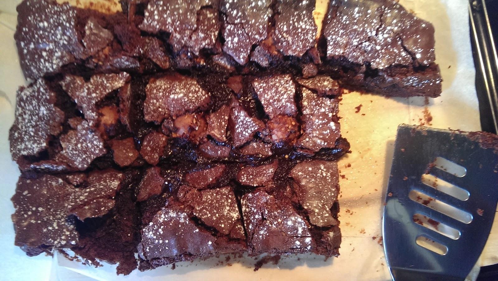 Cooked Ferrero Rocher brownies