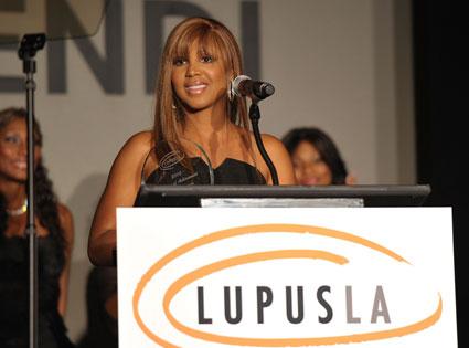 Toni Braxton Speaking During Lupus Event