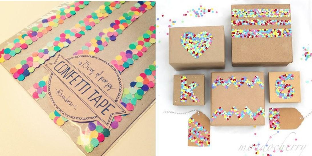 Confetti para envolver regalos