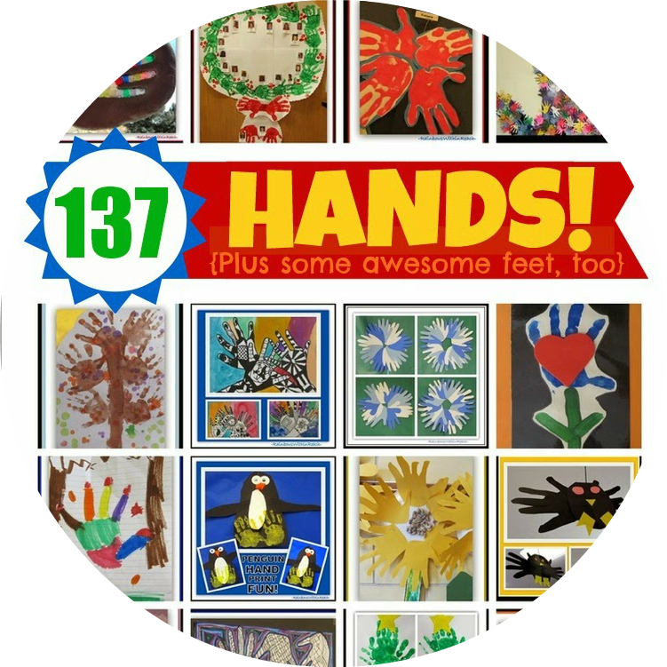 137 Hand Print Projects! at RainbowsWithinReach