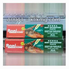 Henna / Hena Pasta Rani Kone 18G Warna Hitam - Kode Barang : A0041