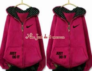 Jaket dan Sweater Wanita Bahan Fleece FJ Nike Just Do It