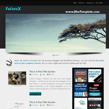 Future X blogger template. slideshow template blogspot. template wordpress to blogspot blog