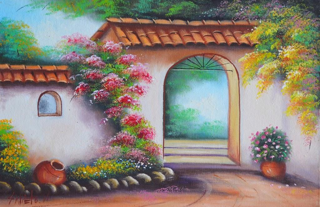 paisajes-costumbristas-con-flores-al-oleo