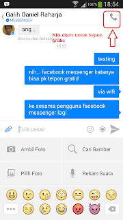 Cara Telpon Gratis dengan Facebook Messenger Android
