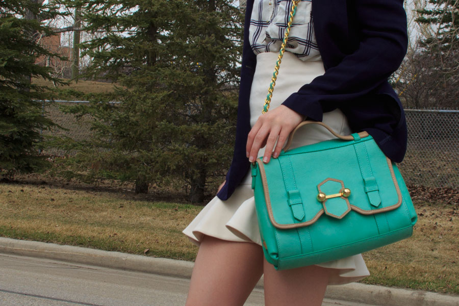 Dynamite, Zara, work wear, Spring Shoes, outfit, personal style, botkier, frilled skirt, peplum