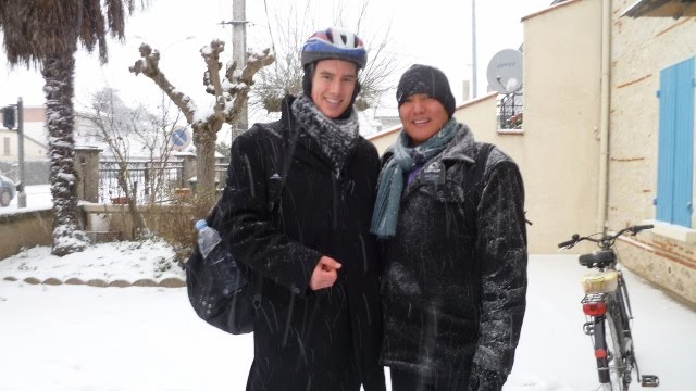 Elder Brown and Elder Tully in the Snow