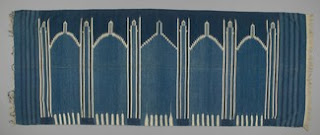 prayer rug, dhurrie Asia: South Asia, India, Northern India, Rajasthan; cotton; weft-faced; fringed 1930 - 1950;  mid 20th century ID Number T04.24.10 Textile Museum of Canada