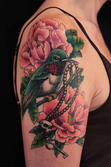 shanninscrapandcrap hummingbird tattoos. Black Bedroom Furniture Sets. Home Design Ideas