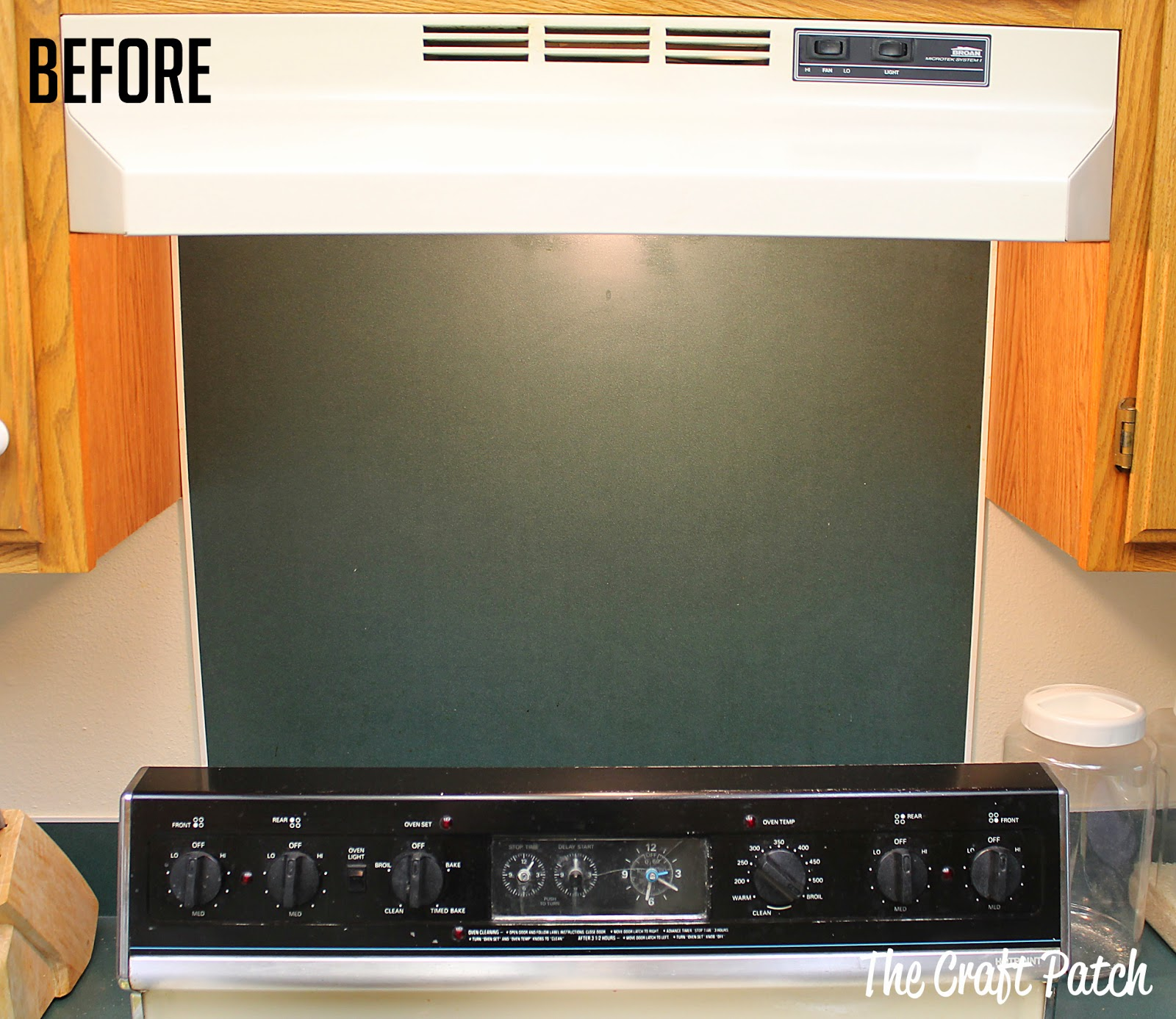 the craft patch: 15 minute kitchen backsplash makeover