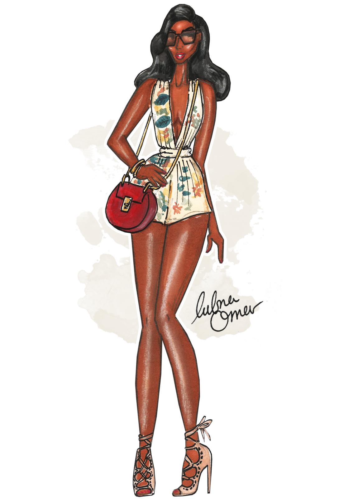 zaful online shop illustration by Lubna Omar