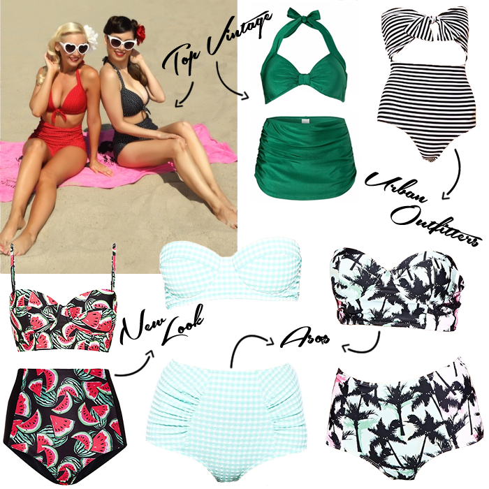 High waisted 50s retro vintage bikini's trend where to buy