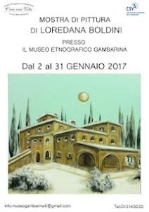 """Mostra alla Gambarina, """"E la luna sta a guardare"""", della pittrice Loredana Boldini"""