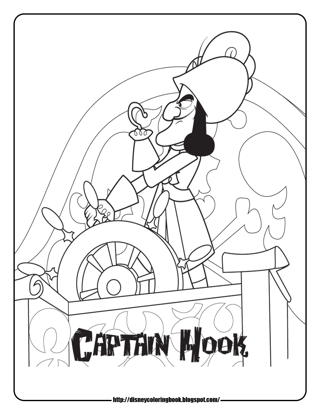 Jake And The Neverland Pirates Captain Hook Coloring Pages