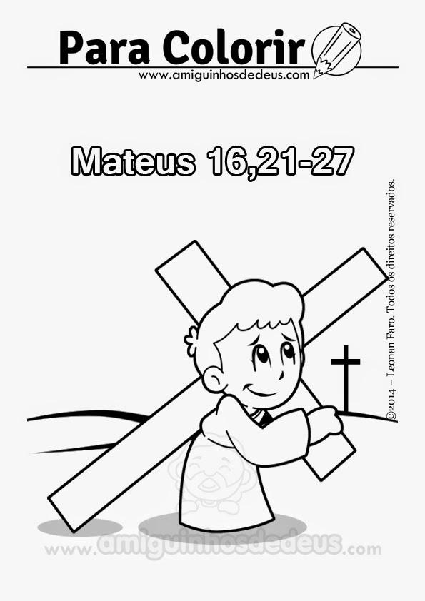 renuncie a si mesmo, tome sua cruz e siga-me desenho para colorir