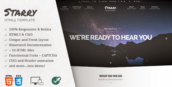 Starry - Creative & Easy Responsive HTML5 Template Free Download
