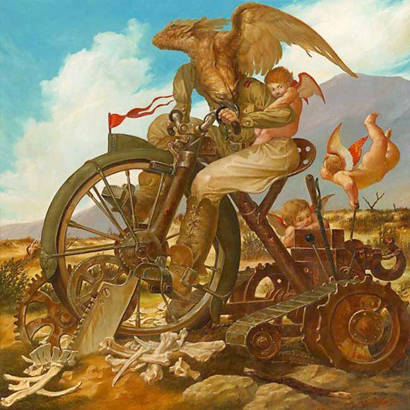 Viktor Safonkin pinturas surreais sombrias medievais mitológicas religião subconsciente Ateísmo limitado