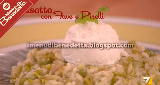 risotto Fave e Piselli di Benedetta Parodi