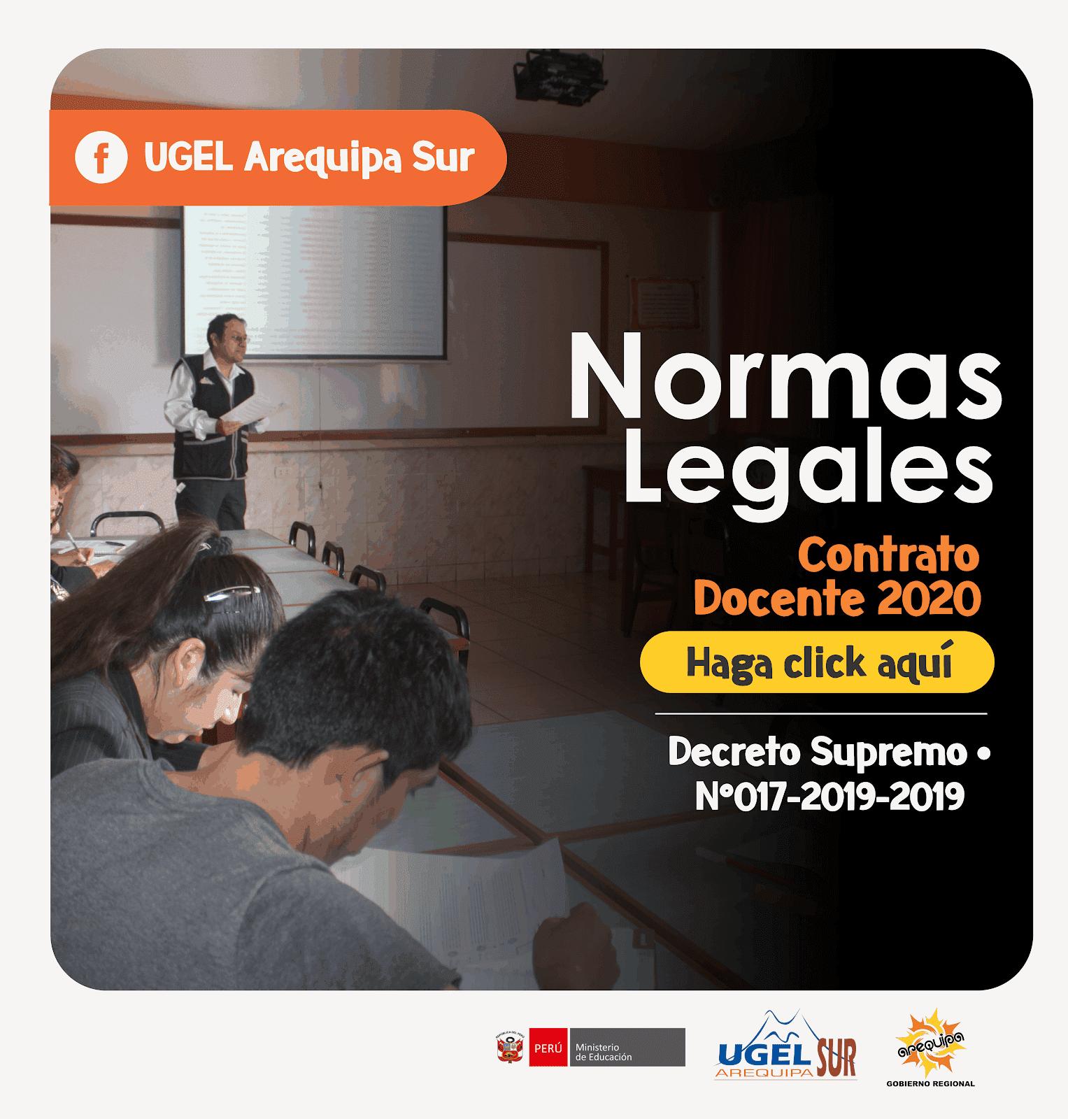 NORMAS LEGALES - CONTRATO DOCENTE 2020