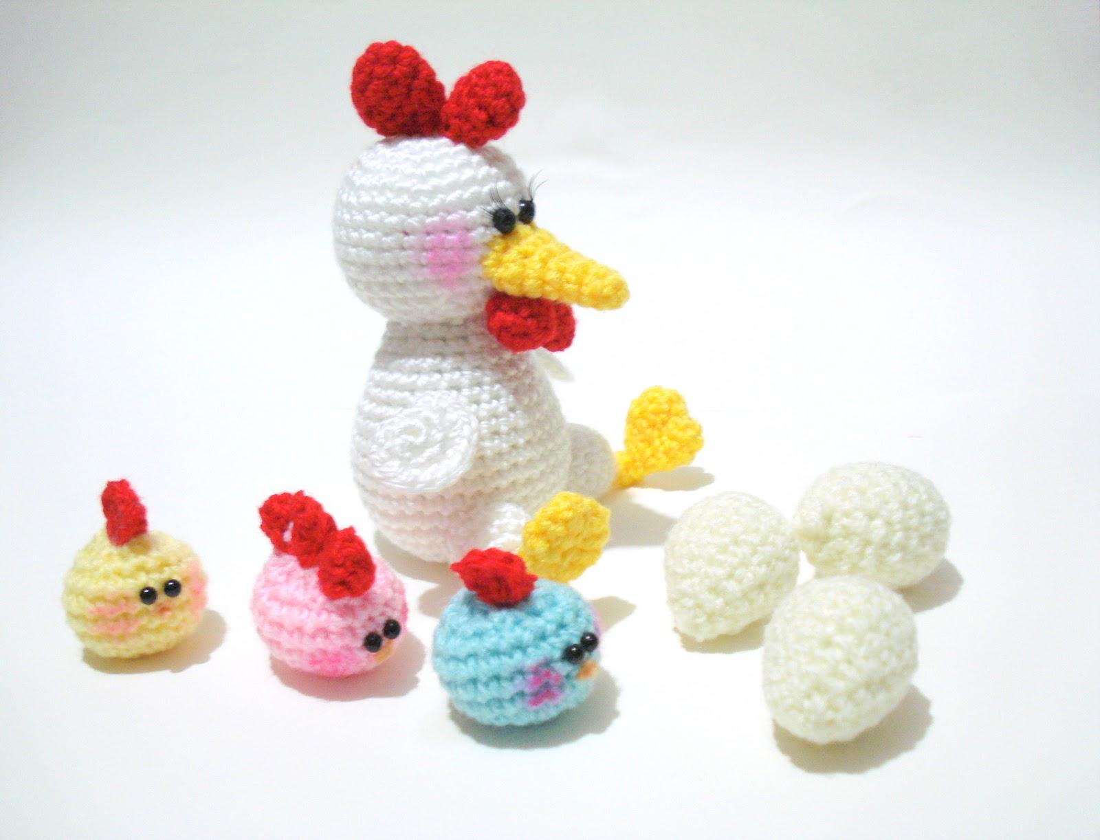 Amigurumi Baby Chick Pattern : AllSoCute Amigurumis: Amigurumi Hen and Chicks Pattern ...