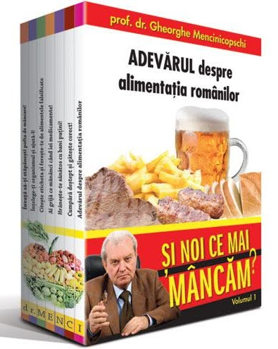 Pachet promotional Dr. Menci 2 volume: 1. Noua ordine alimentara - Si noi ce mai mancam? 2. Si noi