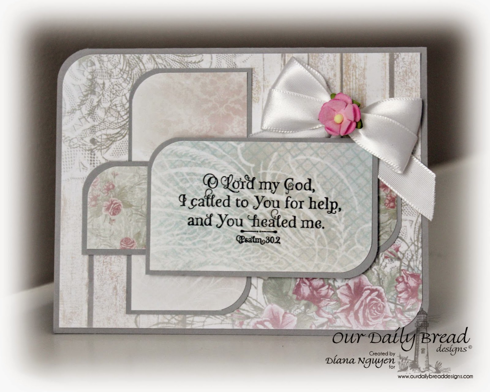 Our Daily Bread Designs, Shabby Rose Paper Collection, God Verses, Designed by Diana Nguyen