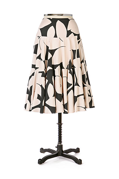 Anthropologie Midnight Shadows Skirt