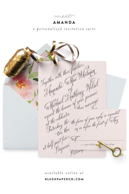 Amanda Wedding Suite // www.blushpaperco.com