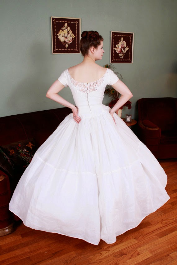 Vintage Fifties Wedding Dress - Affordable 1950s Wedding Dresses