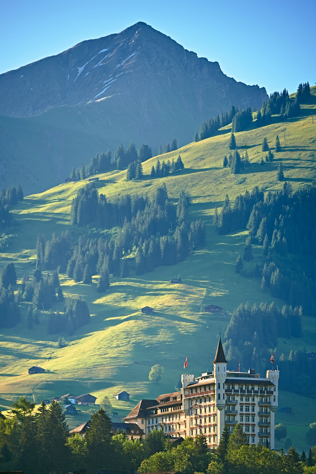 The Gstaad Palace in the summertime. Photo: Gstaad Palace.