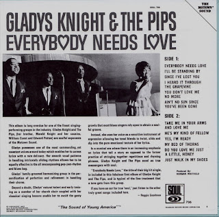 Cover Album of GLADYS KNIGHT & THE PIPS - EVERYBODY NEEDS LOVE (SOUL 1967) Jap mastering cardboard sleeve
