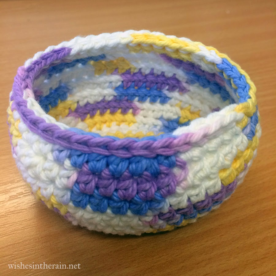 small crochet bowl