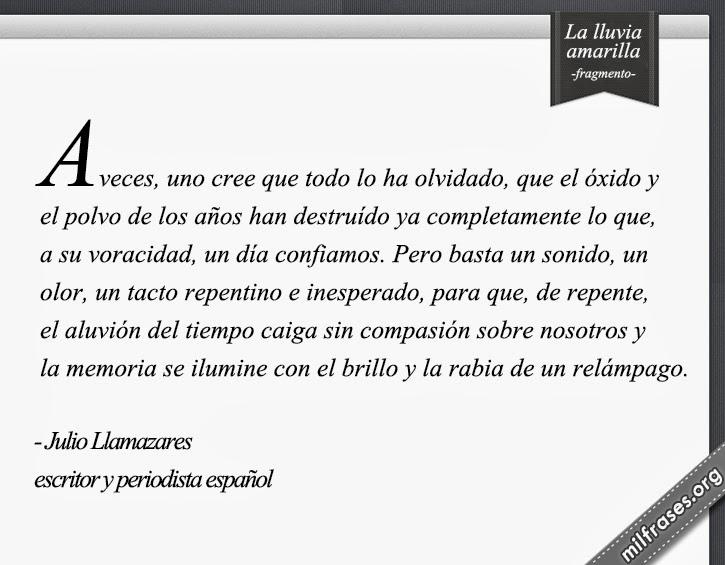 libros de Julio Llamazares La lluvia amarilla
