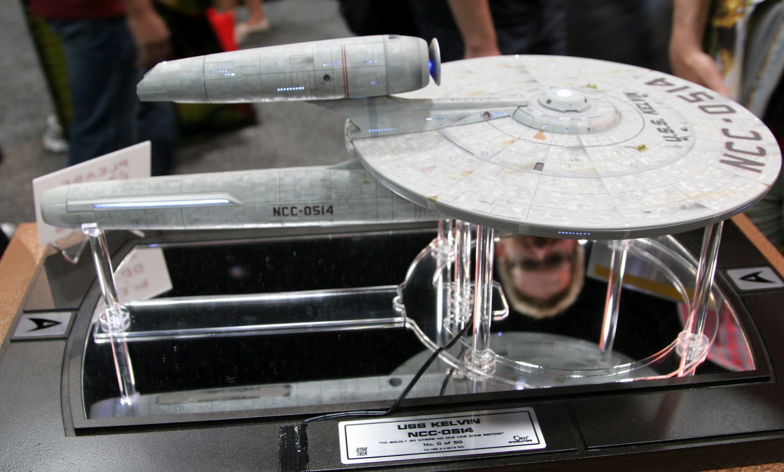 USS Stargazer Model Kit http://www.thetrekcollective.com/2012/07/qmx-kelvin-and-enterprise-d.html