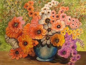 mis pinturas, a la cera.